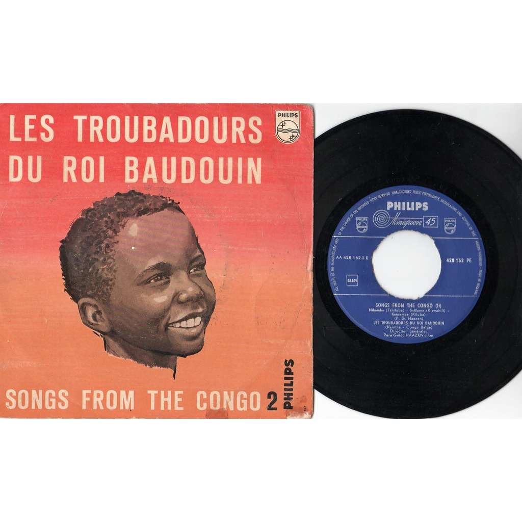 les troubadours du roi baudouin Songs From Congo 2 (Holland 60s original 7-trk 7ep on Philips lbl full ps)