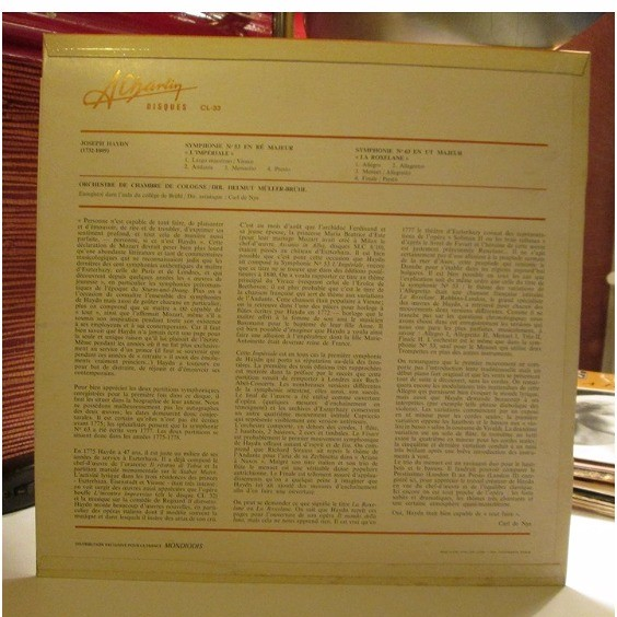 Haydn Symphonies 53 & 63 Helmut Muller-Bruhl Haydn Symphonies 53 & 63 Helmut Muller-Bruhl