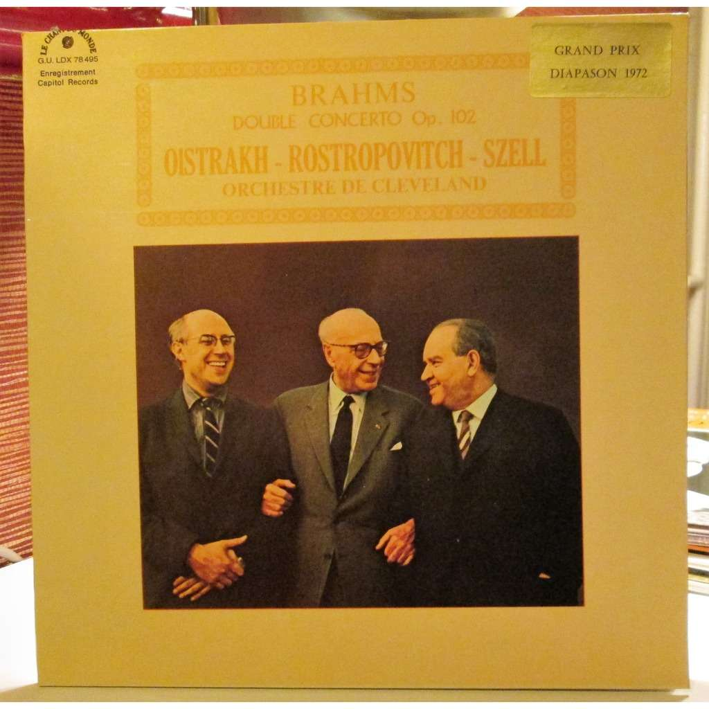 OISTRAKH / ROSTROPOVITCH / SZELL brahms : double concerto, op.102