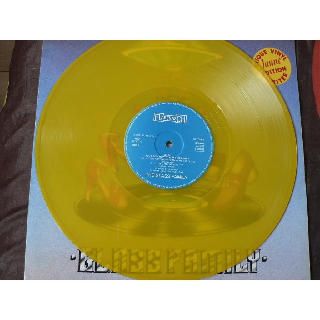 GLASS FAMILY MR DJ YOU KNOW HOW TO MAKE ME DANCE YELLOW VINYL