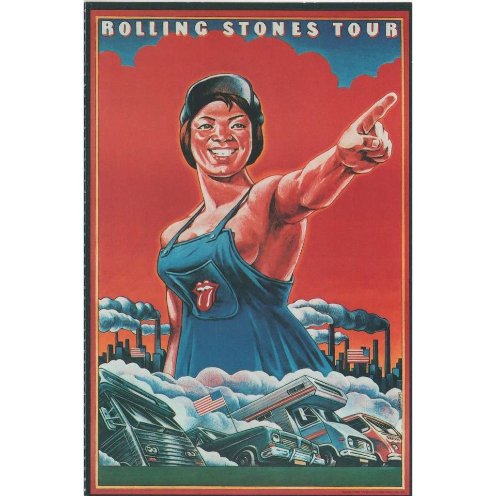 Rolling Stones American Tour Summer 1978 (USA 1983 original 'Musidor B V '  promo large card!!)
