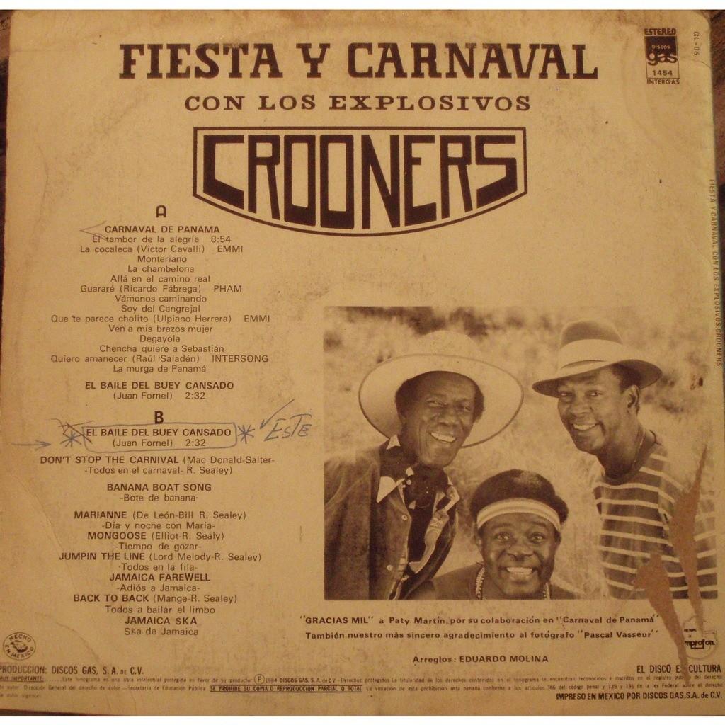 Los Explosivos Crooners Fiesta y carnaval con los explosivos Crooners