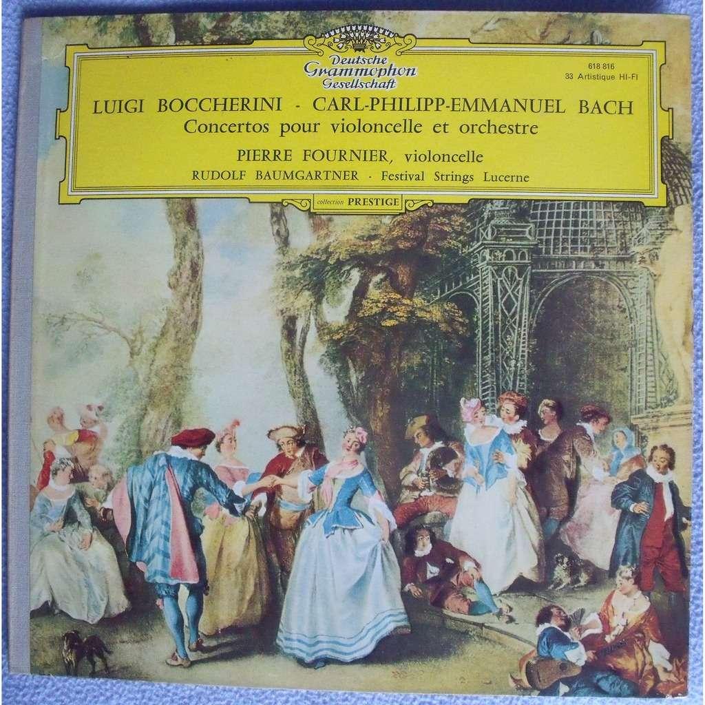 Pierre Fournier & Rudolf Baumgartner Luigi Boccherini C. P. E. Bach concertos pour violoncelle et orchestre
