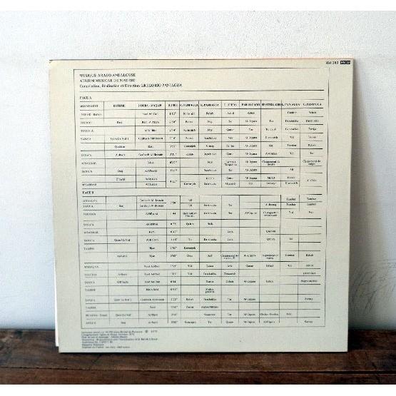 GREGORIO PANIAGUA Musique arabo - andalouse