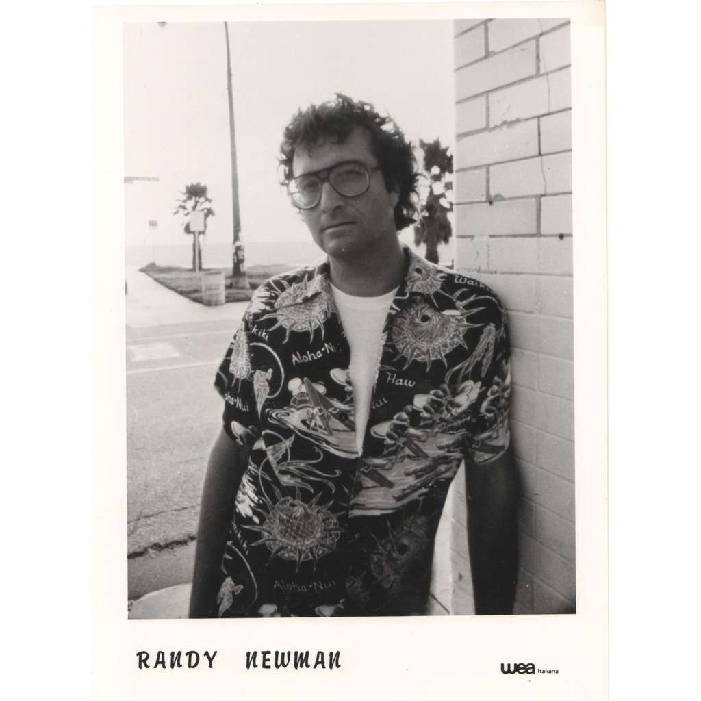 Randy Newman Randy Newman (Italian 80s original Wea promo Press-kit photo!!)