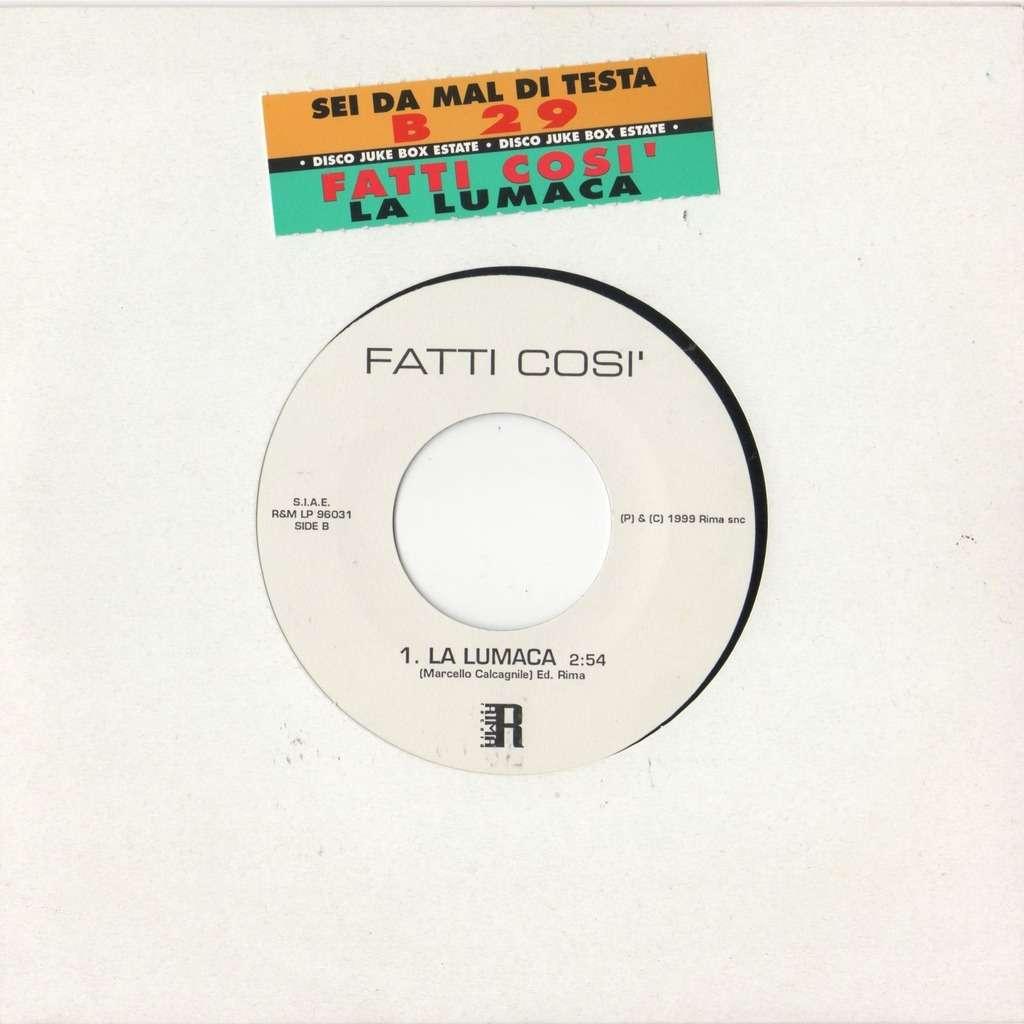 Fatti Cosi' La Lumaca (Italian 1999 1-trk w/label 7single promo title sticker slv)