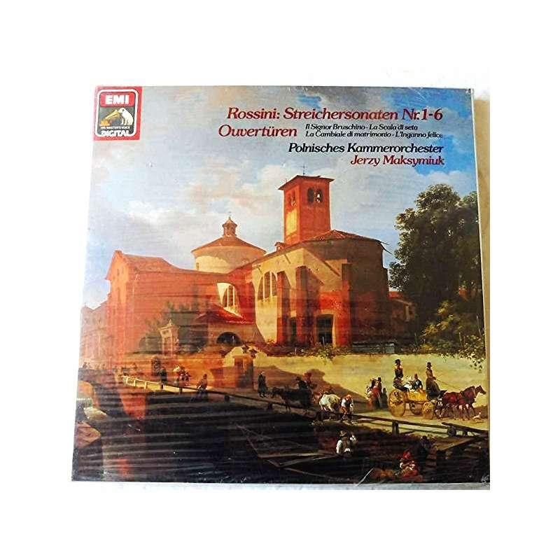 Rossini Streichersonaten N 1 6 Ouvertüren 2 Lp Set Box