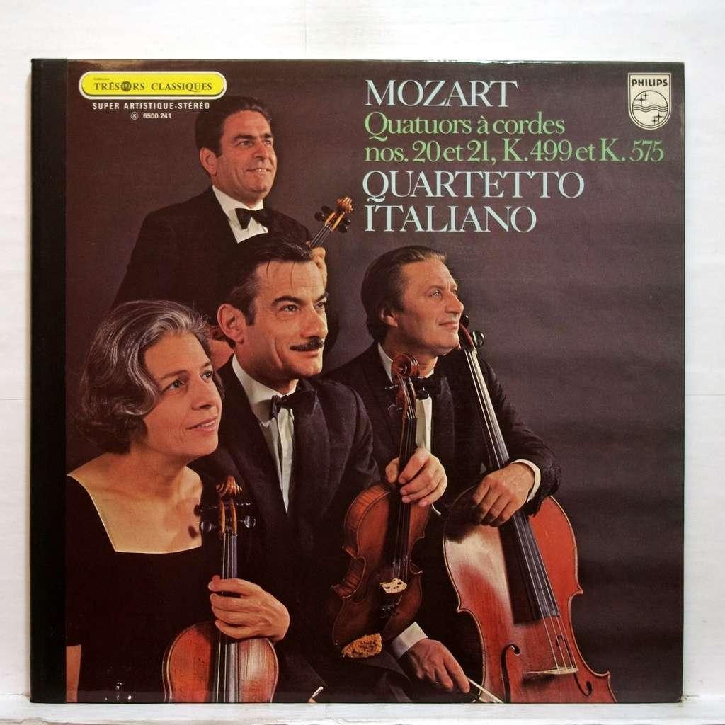 Mozart : string quartets no.20...