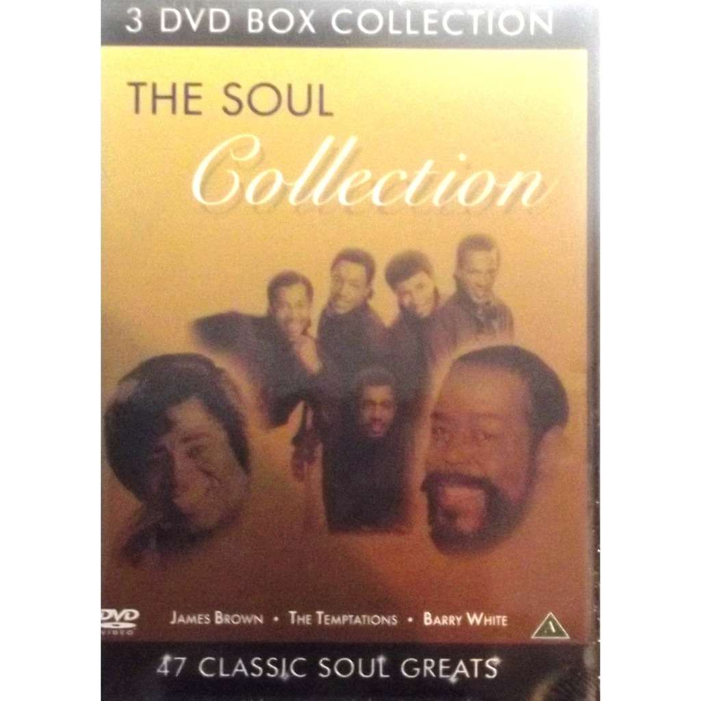 James brown, The Temptations, Barry white the soul collection (3 DVD)