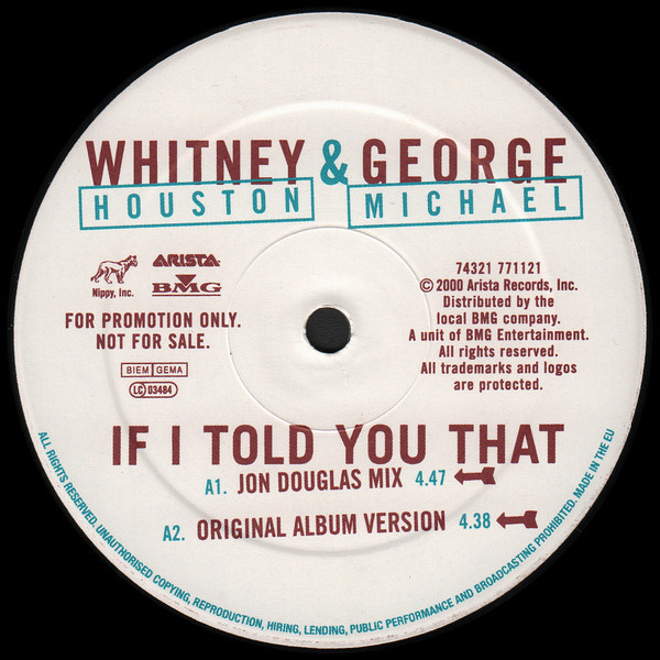 If I Told You That Remixes Promo By Whitney Houston