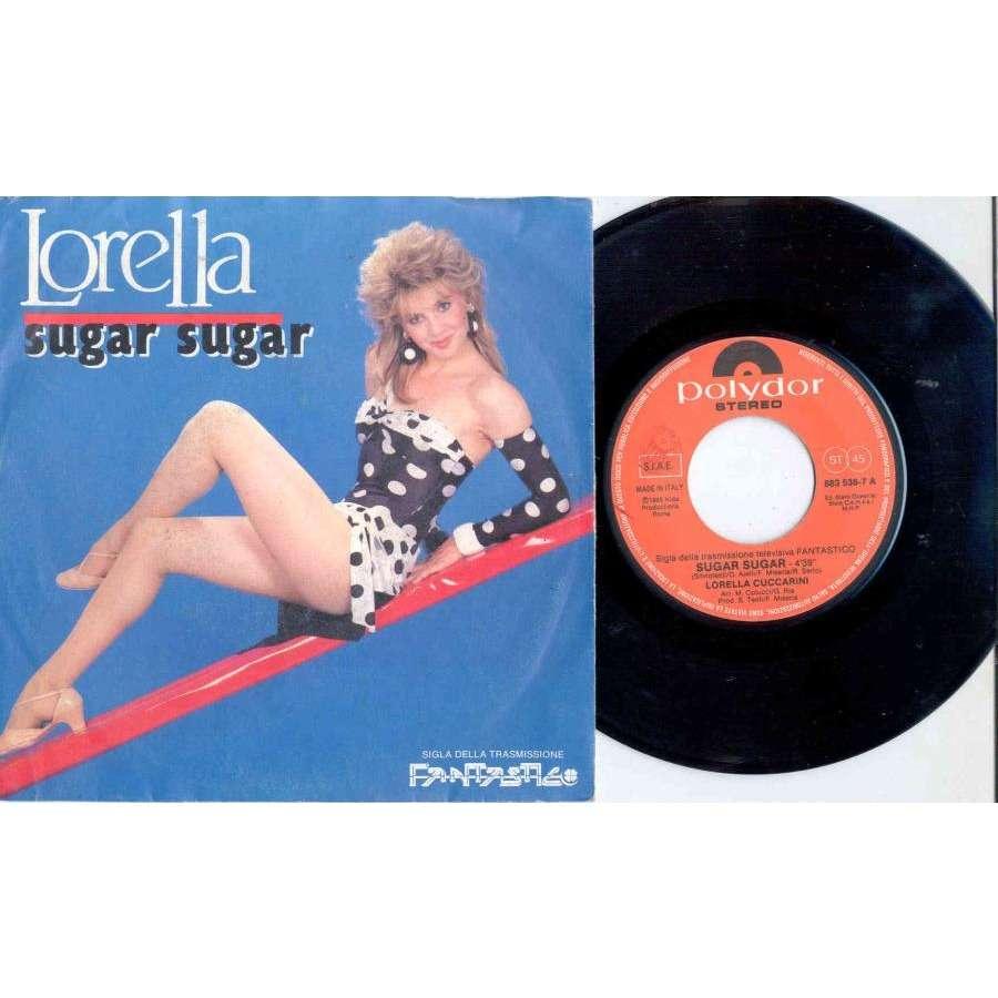 Lorella Cuccarini Sugar Sugar (Italian 1985 2-trk 7single full ps)