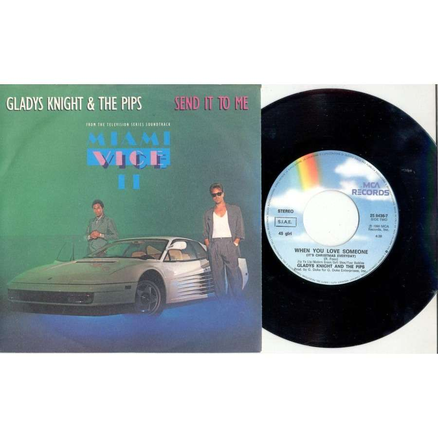 Gladys Knight & The Pips Send It To Me (Italian 1986 'Miami Vice' TV Series 2-trk 7single full ps)