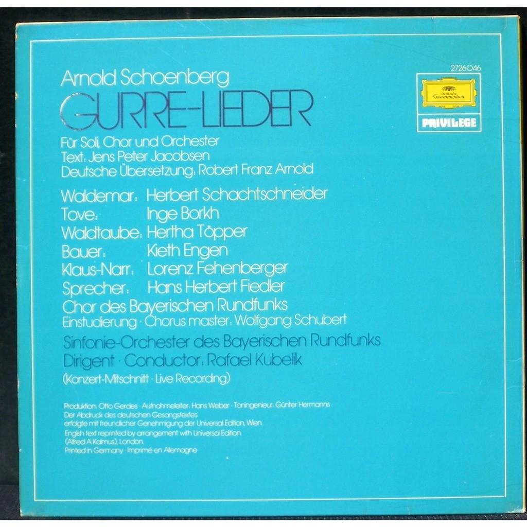 Schönberg Guerre Lieder Kubelik 2 X Lp M Cv Nm By Schönberg