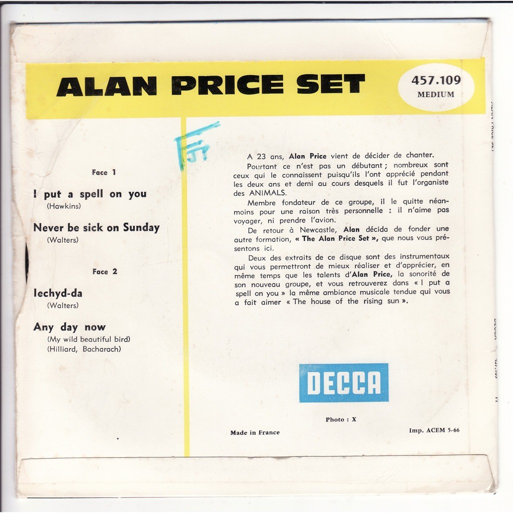 alan price set I put a spell on you + 3