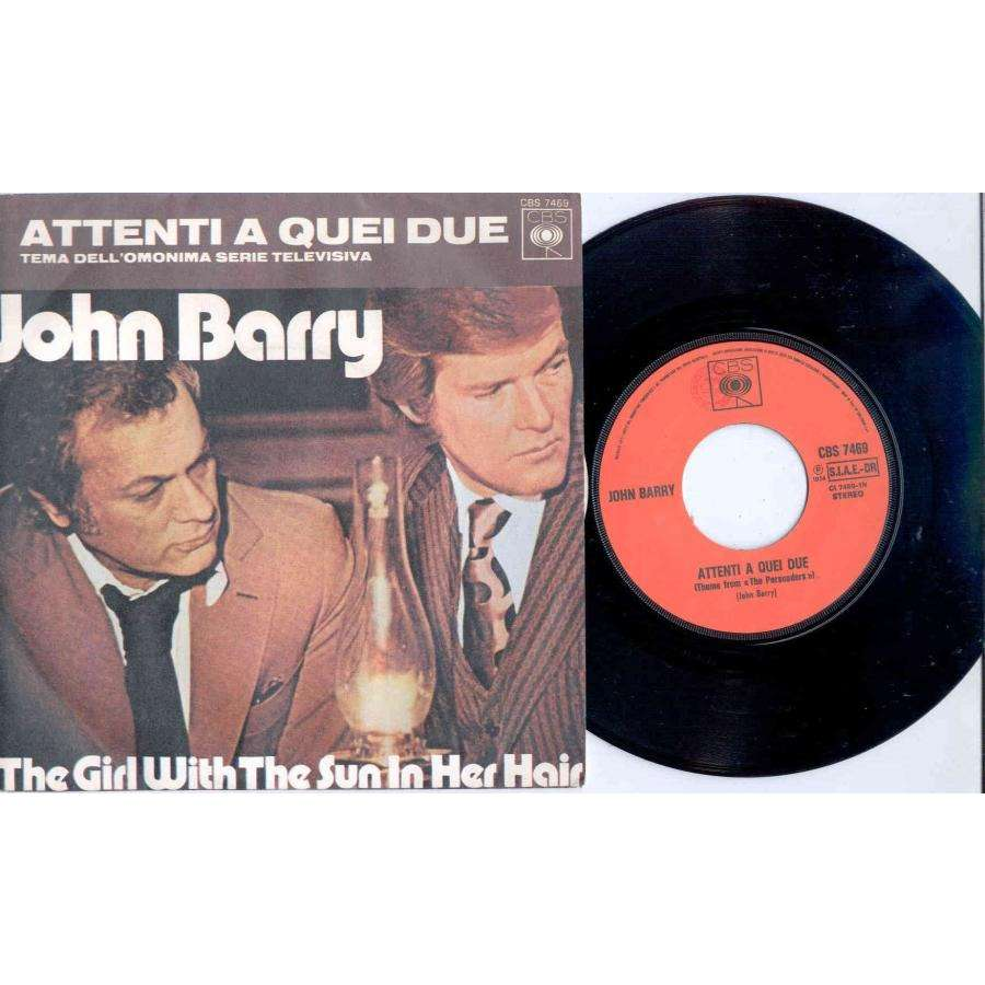 John Barry Attenti A Quei Due (Italian 1974 'TV Series' 2-trk 7single full ps)