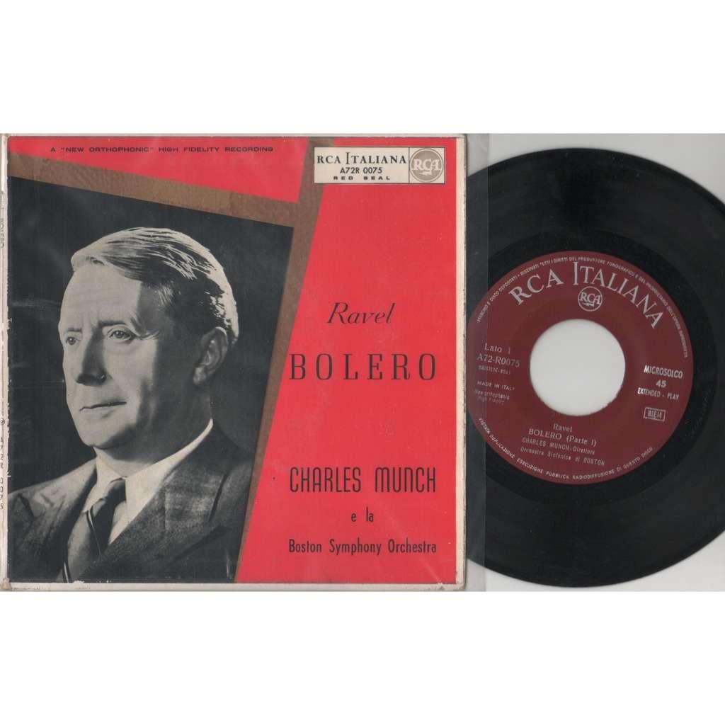 Ravel / Charles Munch / Boston Symphony Orchestra Bolero (Italian 1957 original 7ep great card ps)