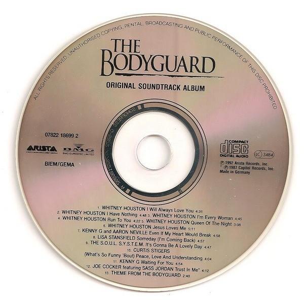 The Bodyguard Original Soundtrack Album By Whitney
