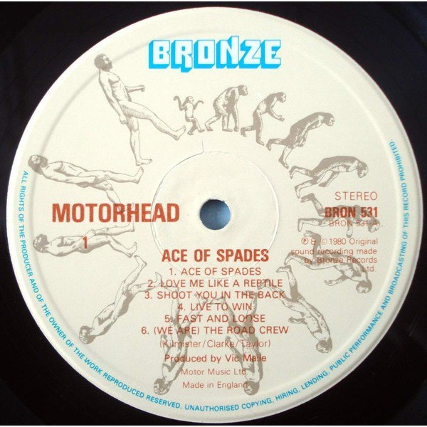Ace of spades (1st uk) by Motorhead, LP with vinylflava