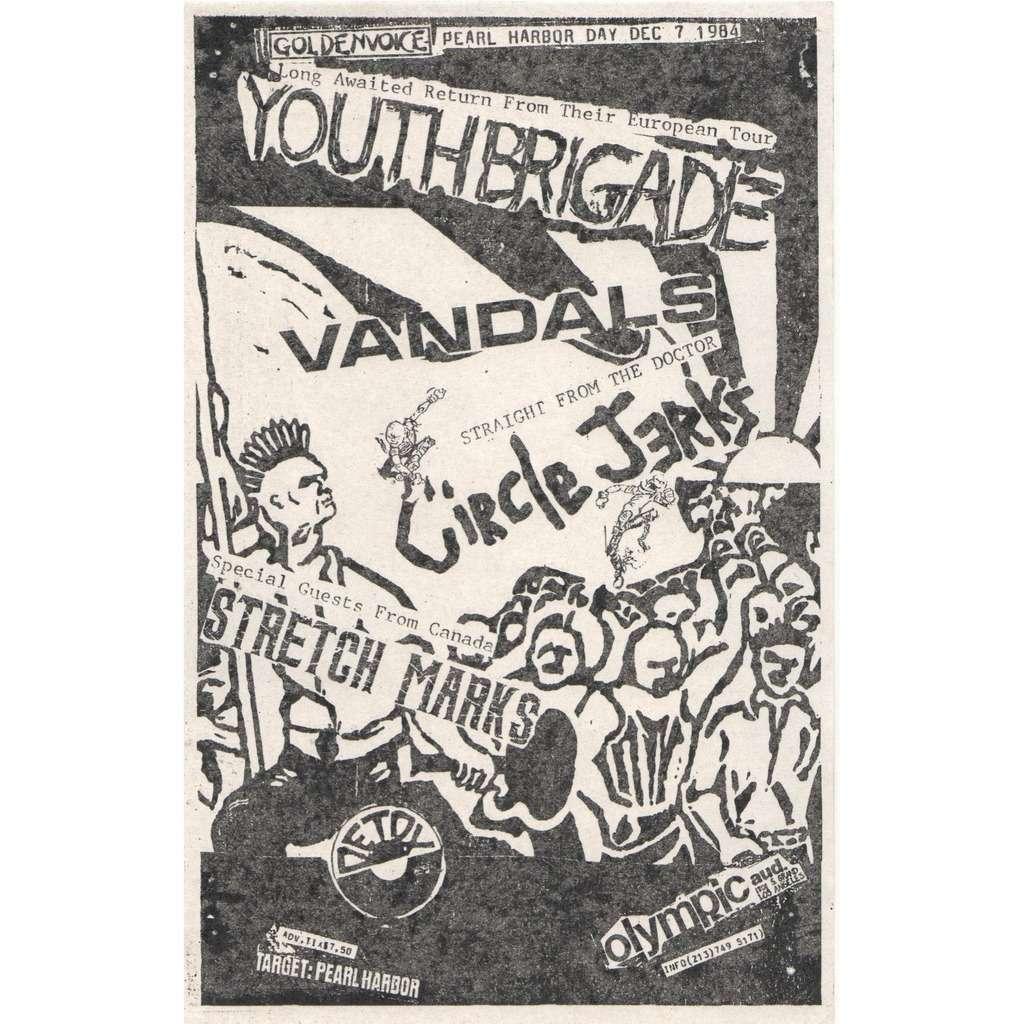 Youth Brigade Vandals / Circle Jerks Stretch Marks Olympic Auditorium 07.12.1984 (usa 1984 original promo concert poster punk flyer!!)
