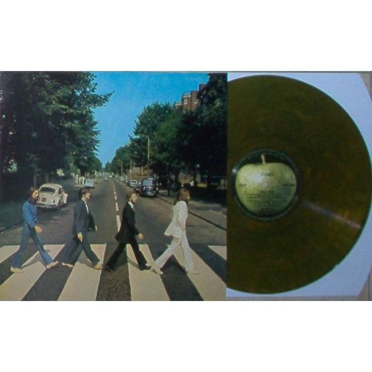 Beatles Abbey Road (Australia Ltd re 16-trk LP GREEN marbled vinyl on Apple lbl full ps)