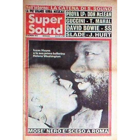 Isaac Hayes Super Sound (29 Jan. 1973) (Italian 1973 large format Isaac Hayes front cover music magazine)