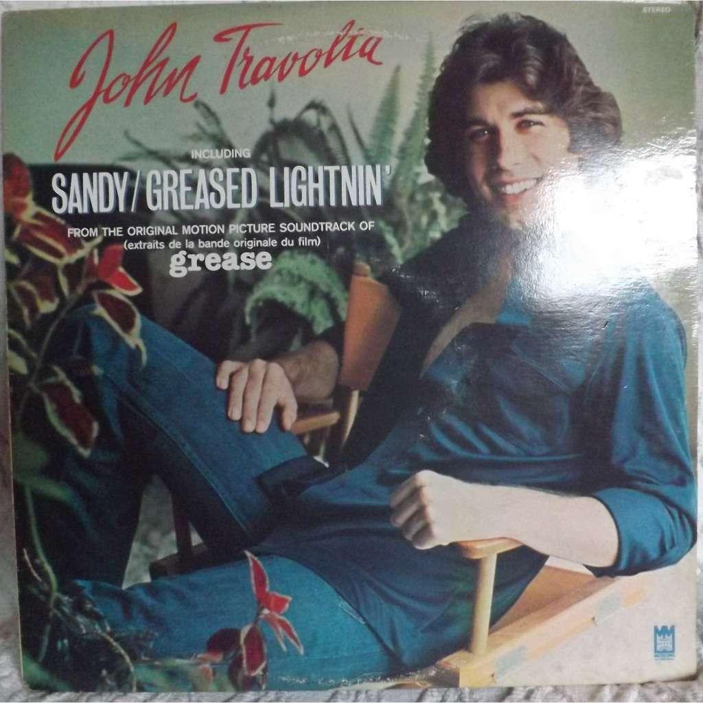 JOHN TRAVOLTA (Vinyle Rouge) Sandy/Greased Lightnin