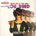 LOU REED - I Never Said It Was Nice, Orpheum Theater (2xlp) - 33T x 2