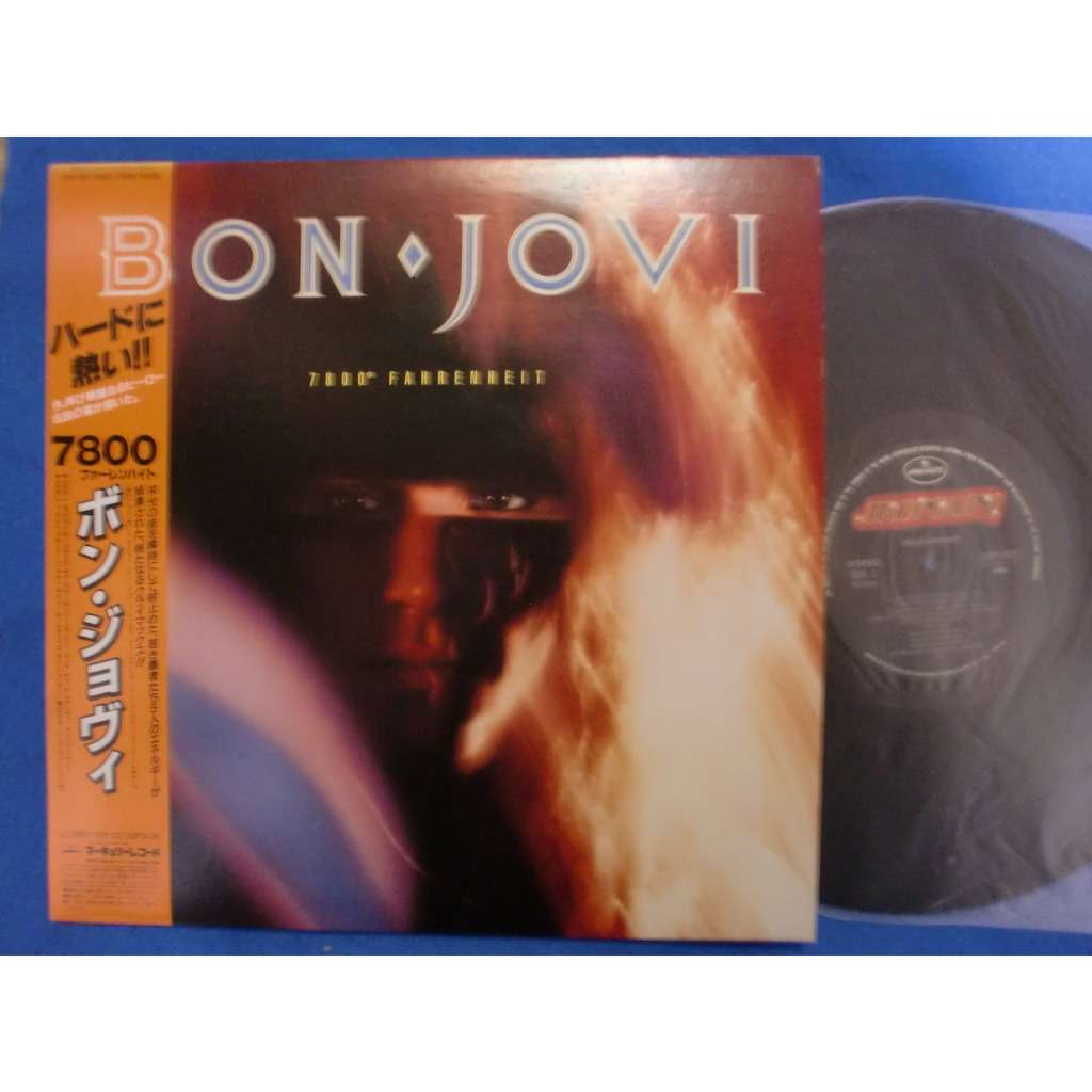 7800 Fahrenheit By Bon Jovi Lp Bonus With Ctrjapan