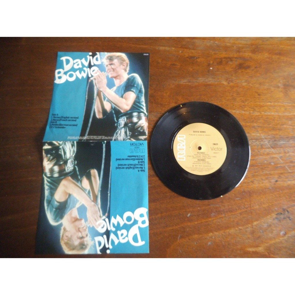 David Bowie Heroes (english version) / héros (french version) / helden ( german version) / V-2 schneider