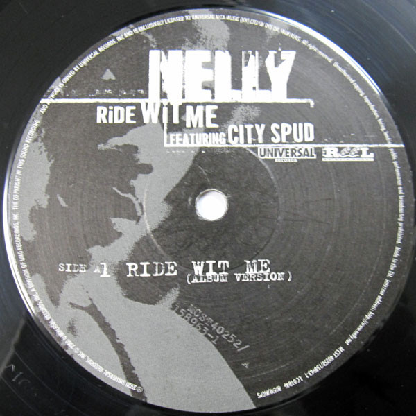 0399856f1db Ride wit me by Nelly Feat. City Spud, 12inch with cutmastersrecords ...