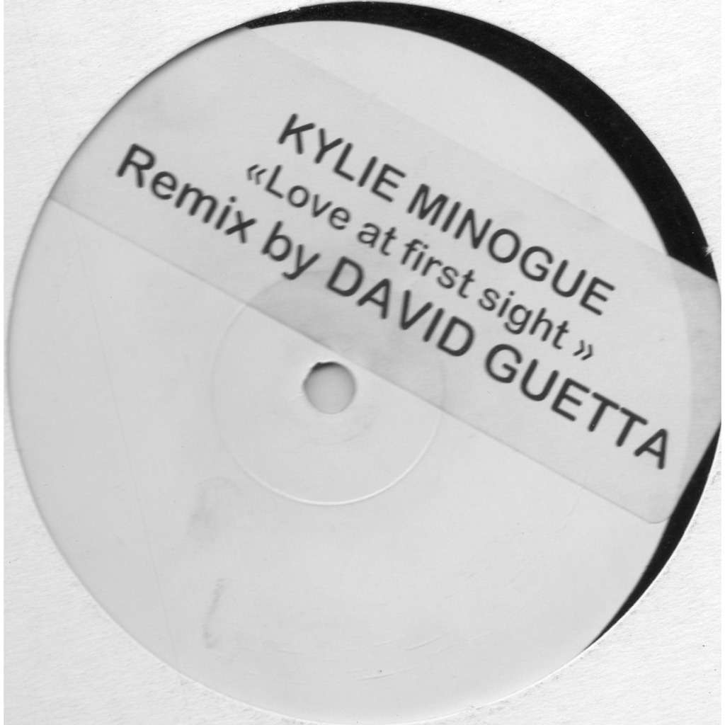 kylie minogue love at first sight (remix David Guetta & Joachim Garraud )-White Label, Stickered