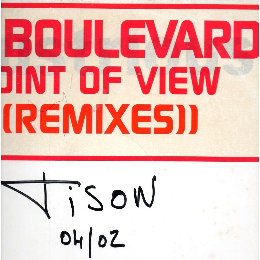 DB Boulevard Point Of View (Remixes) - Promo