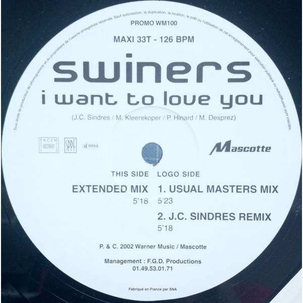 Swiners I Want To Love You ( Promo )