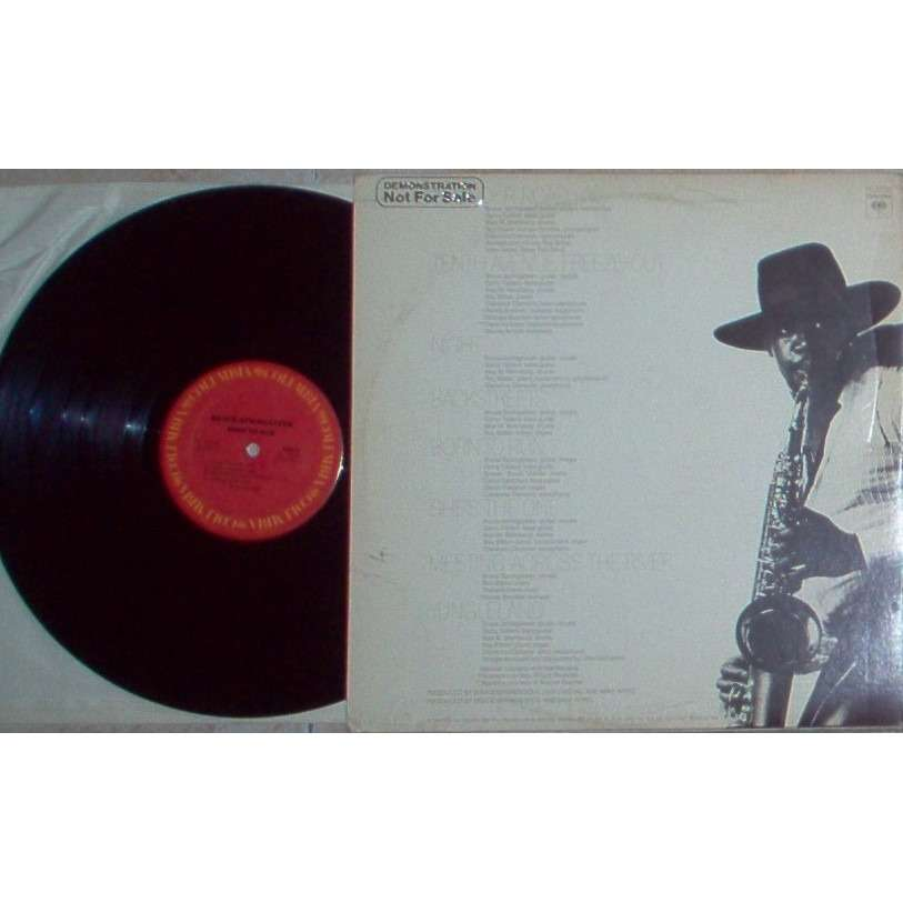 bruce springsteen Born To Run (USA 1975 8-trk 'corrected cover' promo LP 'Demonstration Not For Sale' stamp gf ps)