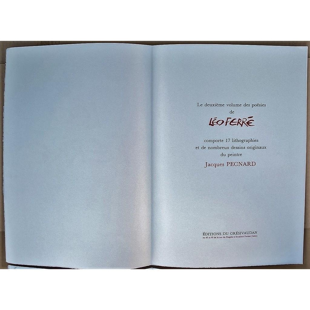 leo ferre poésies , volume 2