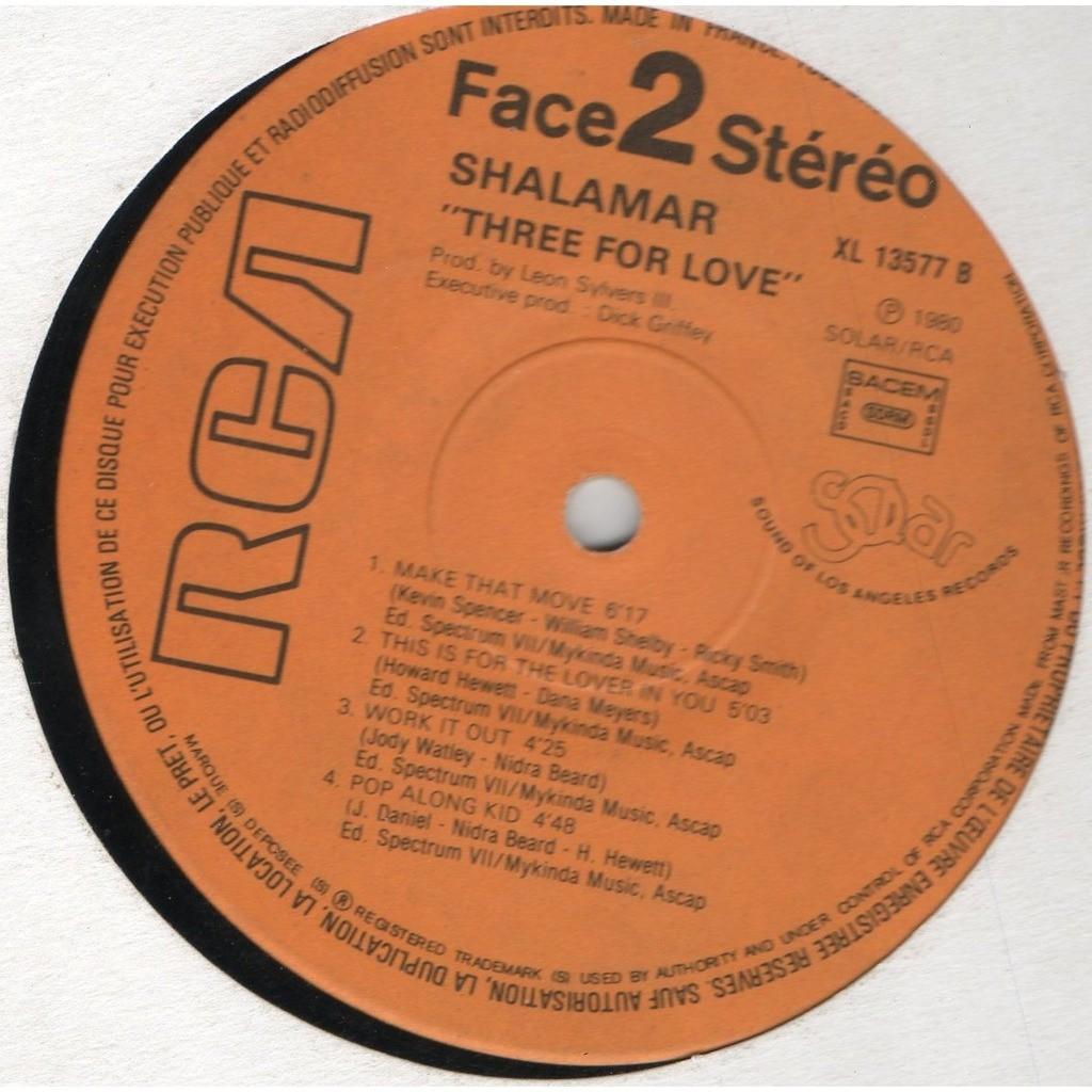 SHALAMAR three for love