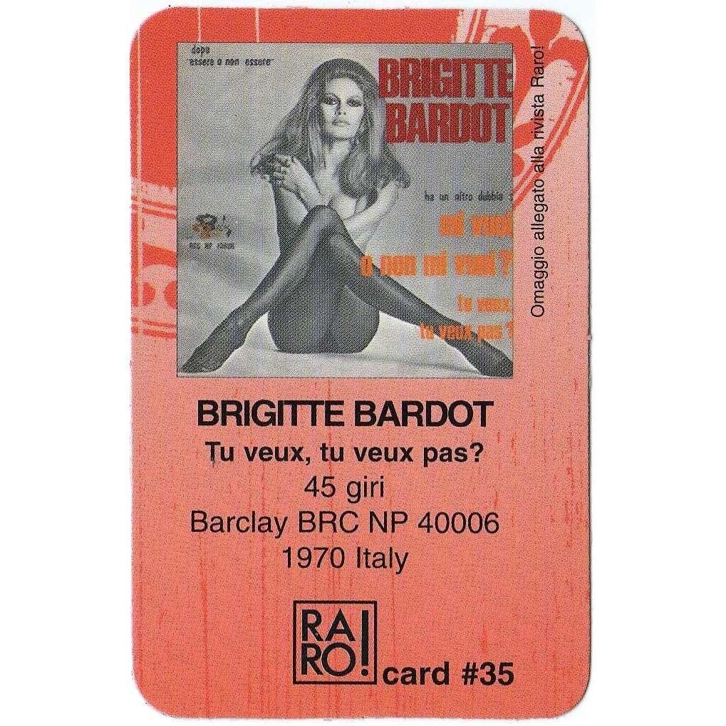 Brigitte Bardot Tu Veux, Tu Veux Mas? (Italian promo 'Telephone card' from RARO! magazine)