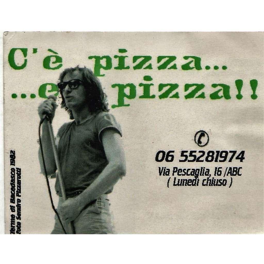 Vasco Rossi C'è Pizza.... e Pizza!! (Italian 90s original Pizza Shop promo double sided brochure!!)