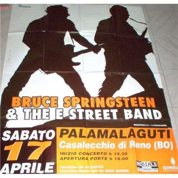 Bruce Springsteen Bologna-Palamalaguti Casalecchio di Reno 17.04.99 (Italian 1999 original large promo concert poster)