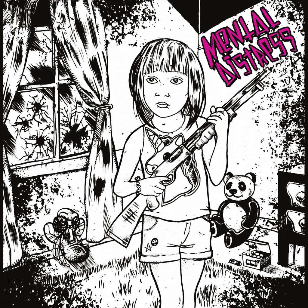 ITAWAK RECORDS : MENTAL DISTRESS S/T - 45T EP 4 titres