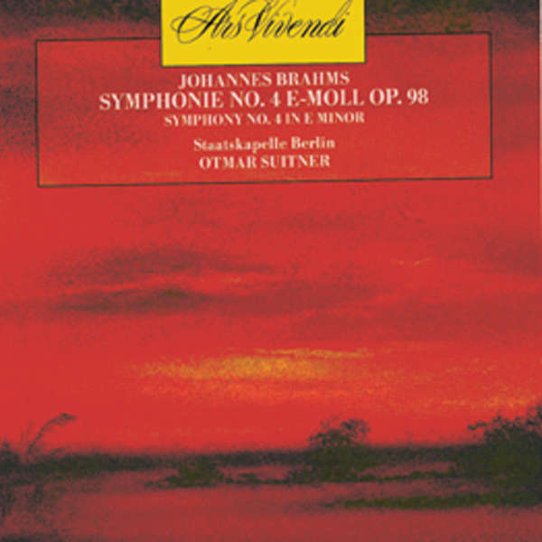 OTMAR SUITNER BRAHMS - Symphonie n°4