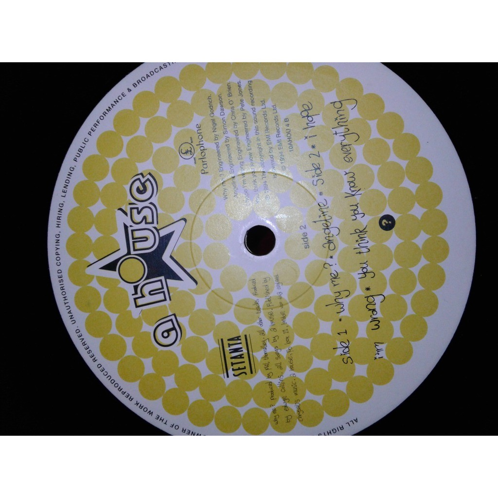 a house (PROMOTIONAL COPY)10, 45 RPM why me?