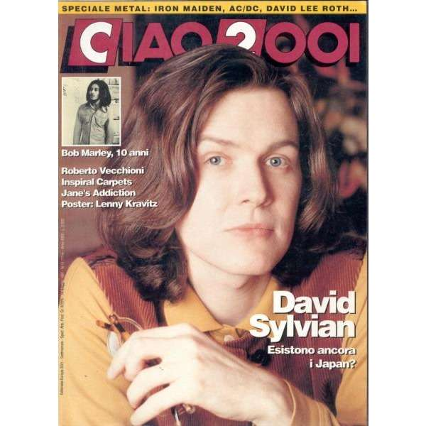 ciao 2001 14 05 1991 italian 1991 david sylvian front cover