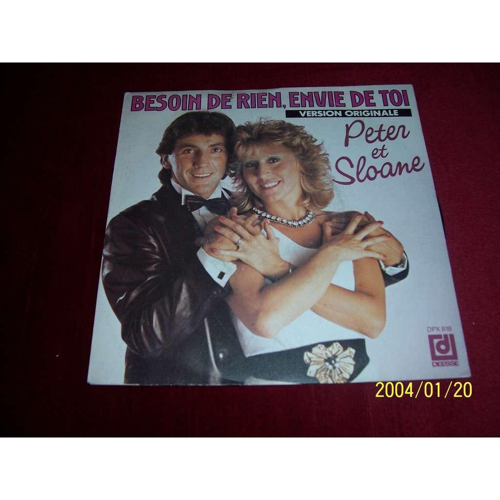 Peter et Sloane Besoin de rien, envie de toi / Ma vie avec toi, ta vie avec moi