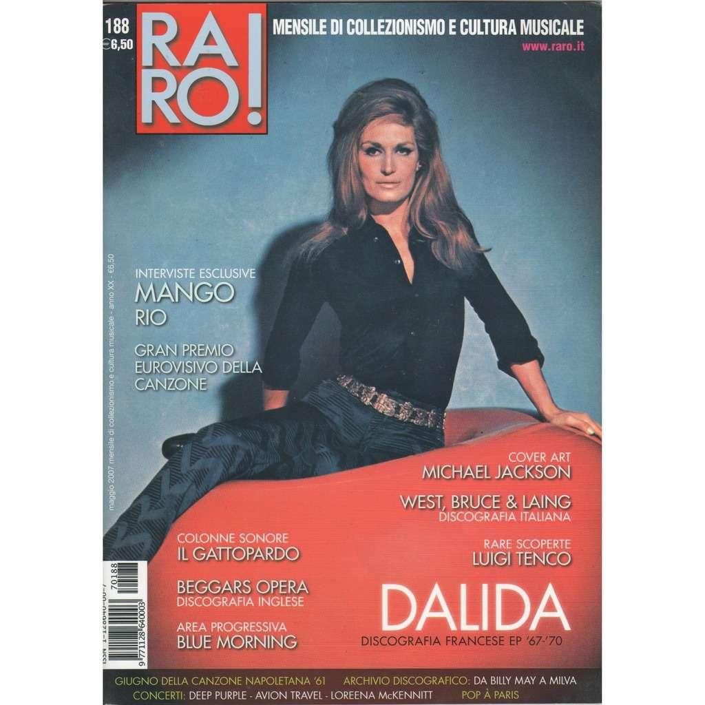 dalida RARO! (N188 May 2007) (Italian 2007 Dalida front cover collector's magazine)