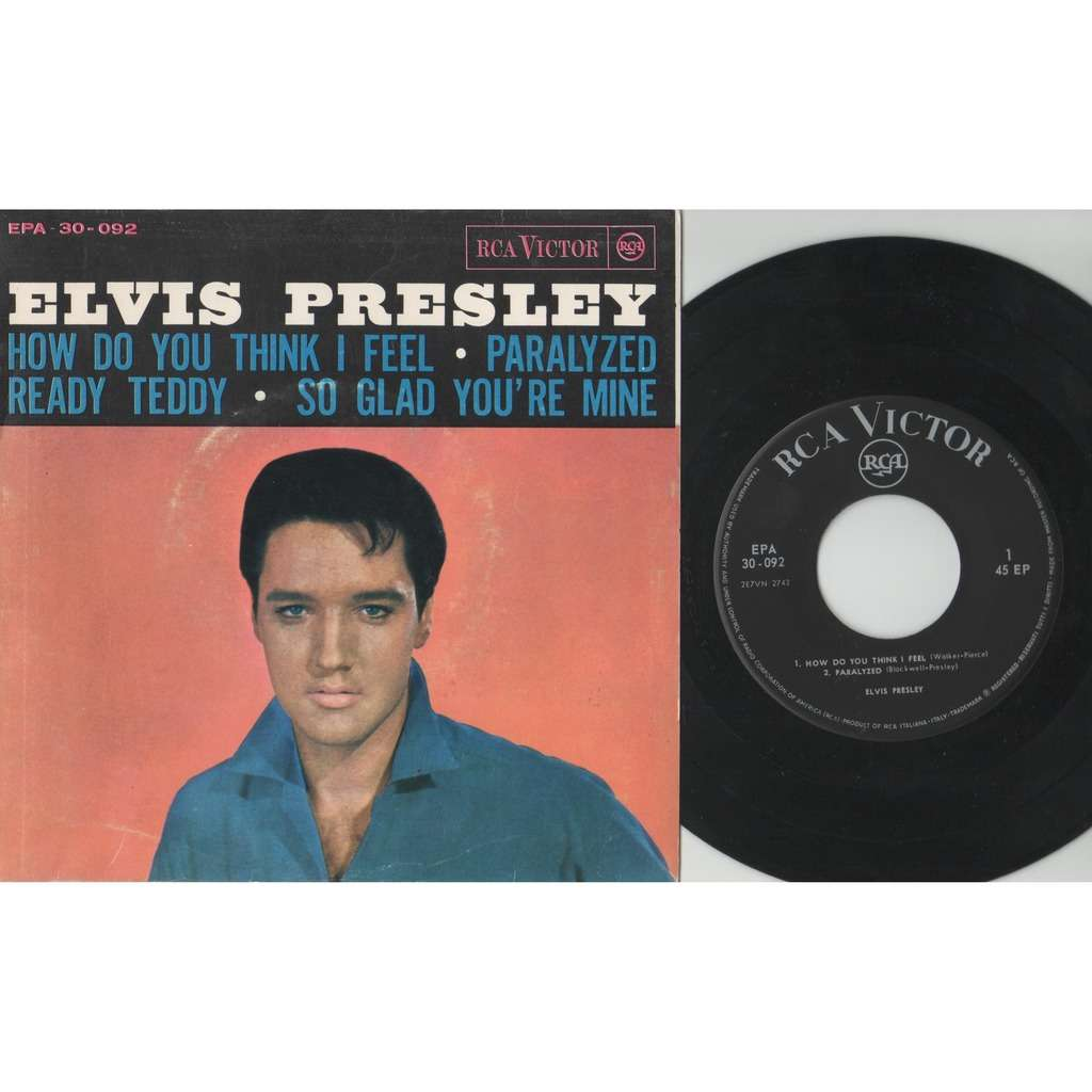 Elvis Presley How do you think I feel (Italian 1964 original 4-trk 7ep absolutely unique ps)