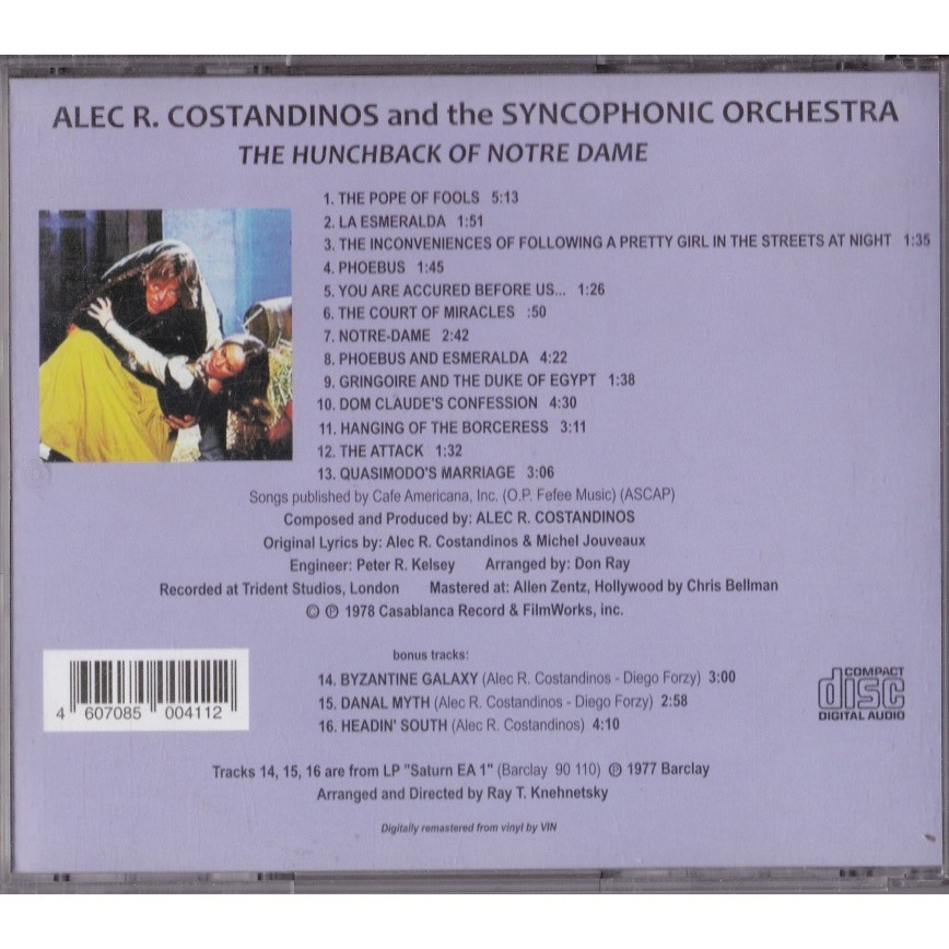 ALEC R. COSTANDINOS and Syncophonic Orchestra The Hunchback Of Notre Dame