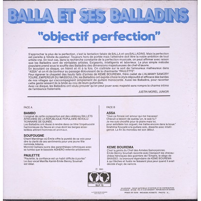 Balla Et Ses Balladins Objectif Perfection