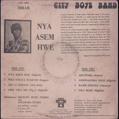 City Boys Band Nya Asem Hwe