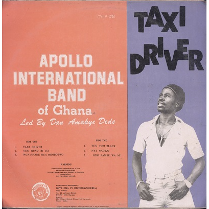 apollo international band of ghana taxi driver